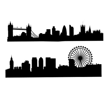 Amazon London Skyline Silhouette