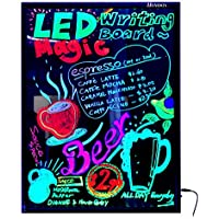 Homdox Led Message Writing Board, Bigger Size 32.4 x 22.2 with 8-Color Control Signal Display for DIY Flashing Illuminated Erasable Neon Led Menu Board