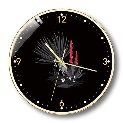KFDQ Reloj de Pared, Relojes Modernos Y Creativos, Reloj de Pared Brillante Y Redondo