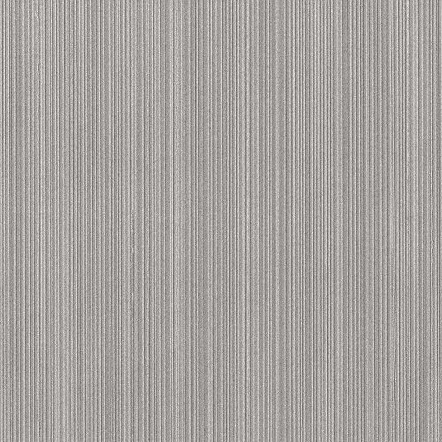 Serenity Metallic Satin Gray Vinyl Textured Wallpaper For Walls - Double Roll - By Romosa Wallcoverings - Gray Stripe Wallpaper