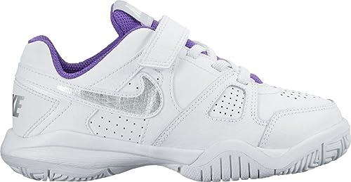 dce4fd6ef4 Nike City Court 7 (PSV), Zapatillas de Tenis para Niñas,  Blanco/Plateado/Morado (White/Metallic Silver-Hypr GRP), 28 1/2 EU:  Amazon.es: Zapatos y ...