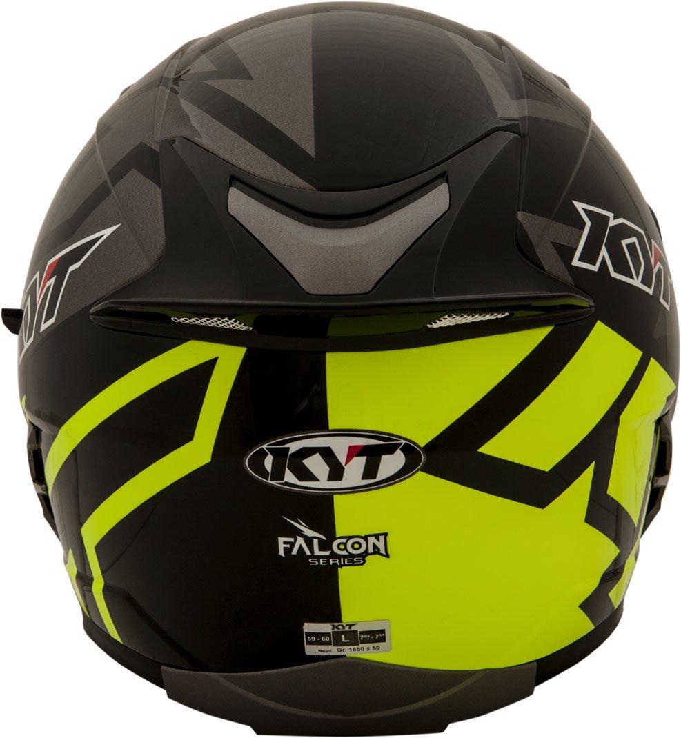 Amazon.es: KYT casco Moto Cross off-road Falcon, Faster Yellow, talla S 55 - 56 cm