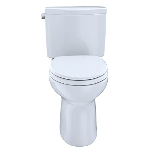 TOTO CST454CEFG#01 Drake II 2-Piece Toilet with Elongated Bowl and Sanagloss