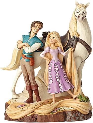 Enesco Disney Traditions by Jim Shore Tangled Carved by Heart Live Your Dream Stone Resin Figurine, 21.5 Inches, Multicolor