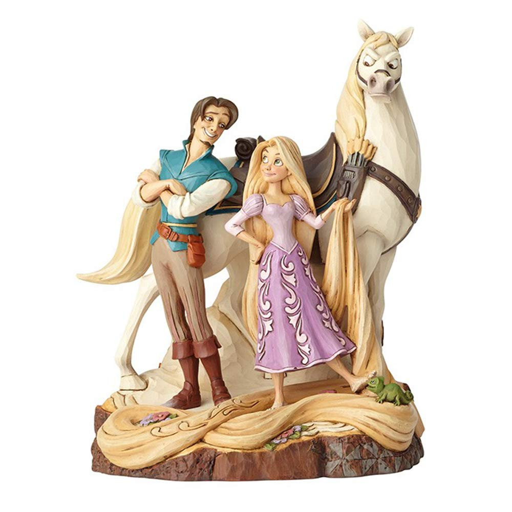 Disney Traditions 4059736 Live Your Dream Tangled Figurine, Resin Multi-Colour, 15 x 16 x 21 cm