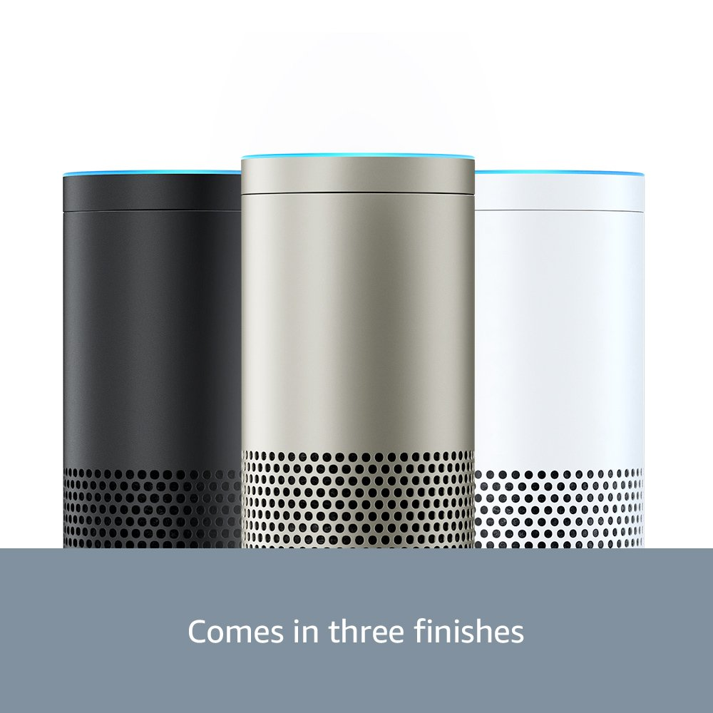 Echo Plus with built-in Smart Home Hub White plus Philips Hue Smart Bulb included