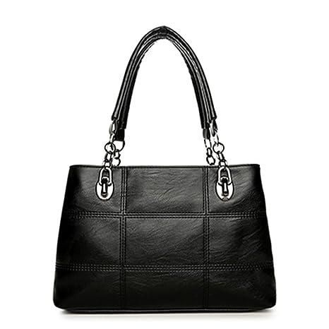 6e73d0d1c64e Amazon.com: UOXMDNJC Women's Shoulder Bags Pu Leather Plaid Bag ...