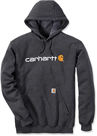 Carhartt Mens Stretchable Signature Logo Hooded Sweatshirt Top: Amazon.es: Deportes y aire libre