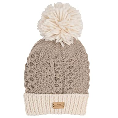 e9d212857006a Aran Tradition Honeycomb Stitch Knitted Bobble Hat