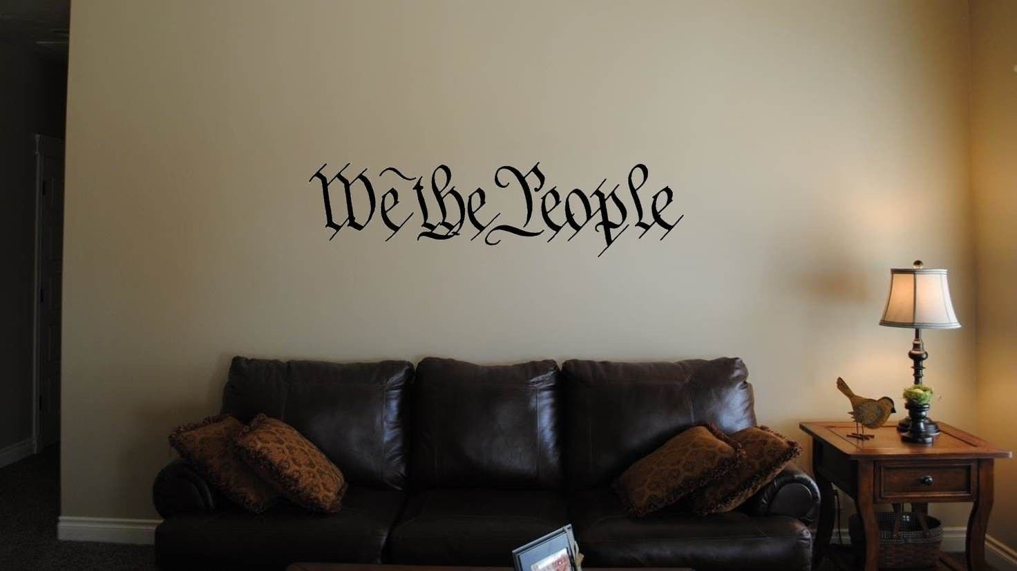 amazon com we the people wall decal sticker 39 inches x 10 inches amazon com we the people wall decal sticker 39 inches x 10 inches wall art automotive