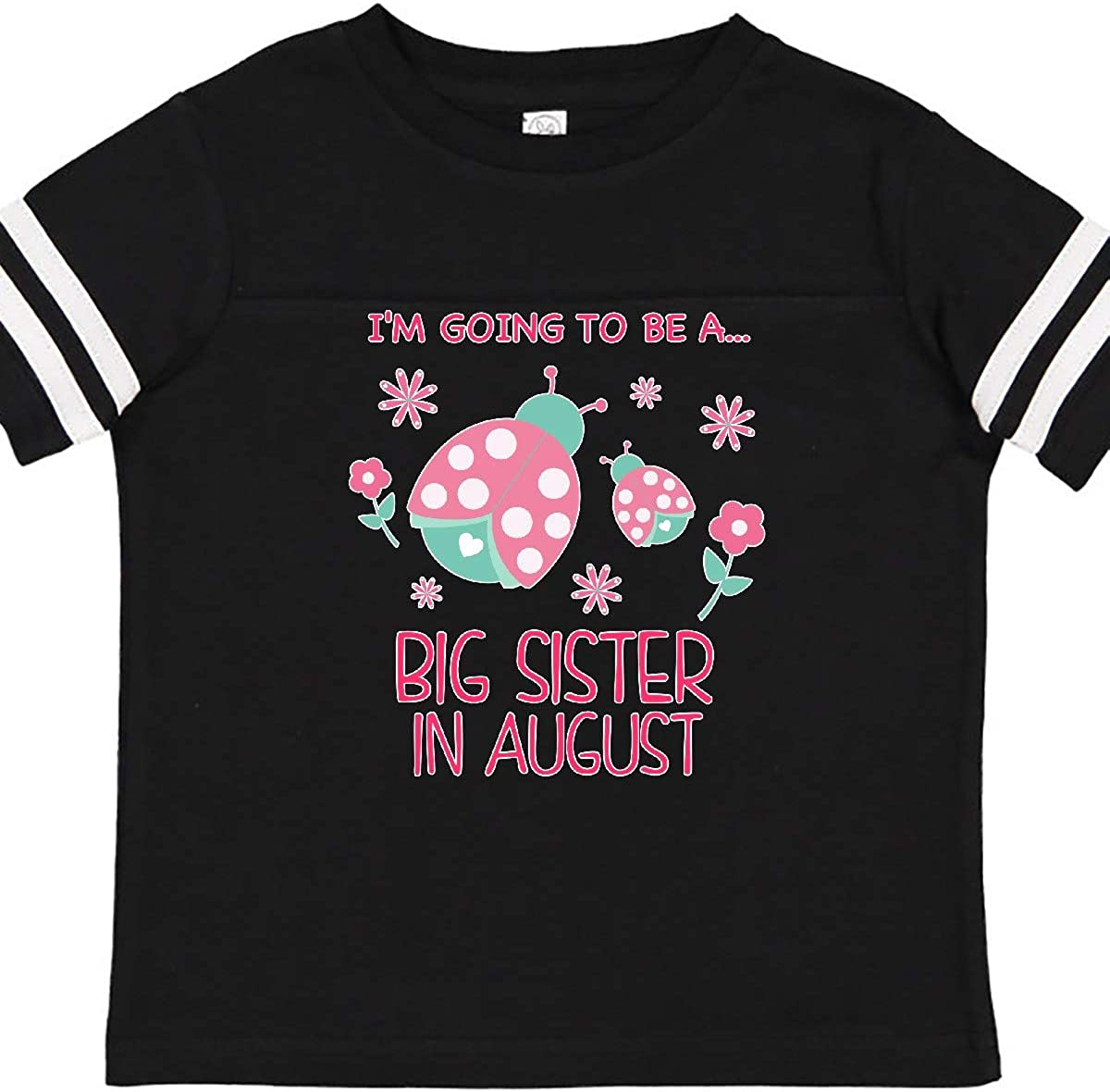 inktastic Im Gonna Be a Sister in August with Ladybugs Toddler T-Shirt