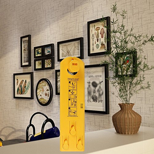 Suspension Measurement Marking Position Tool,Hang and Level Picture Hanging Tool and Horizontal Wall of The Roof, Perfect to Hang Pictures, Mirrors and Clocks, Yellow by GG Life (Image #8)
