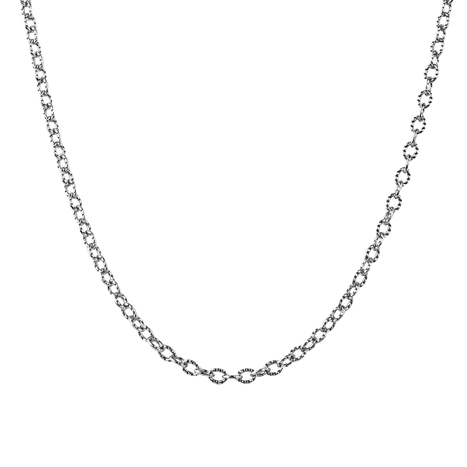 American West Sterling Silver Curb Link Chain Necklace
