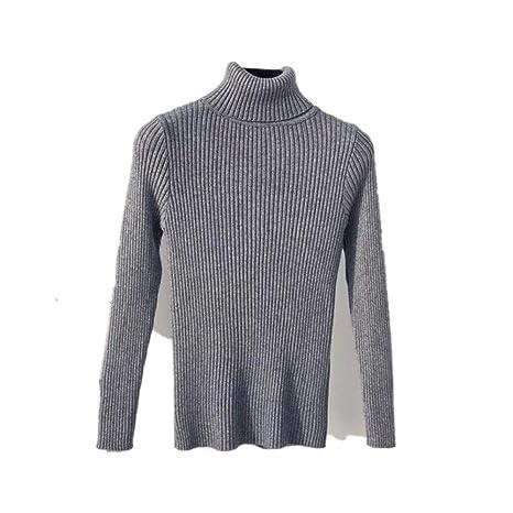 Yangshan 2019 otoño Invierno suéter de Cuello Alto de Punto for ...