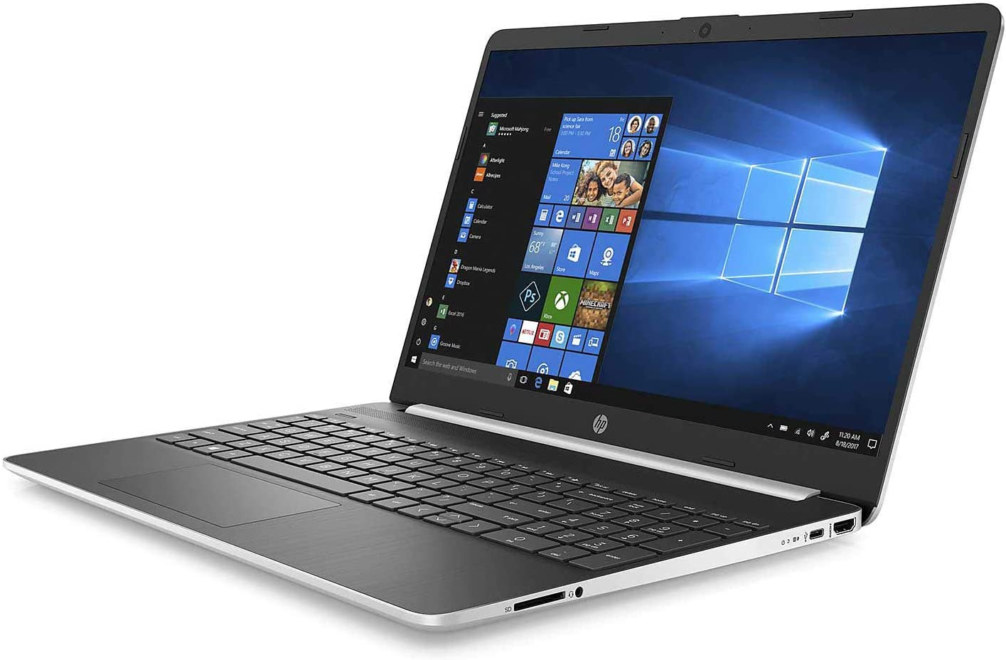 "HP 15.6"" FHD Home and Business Laptop Core i7-1065G7, 20GB RAM, 1TB SSD, Intel Iris Plus Graphics, 4 Core up to 3.90 GHz, USB-C, HDMI 1.4 4K Output, Keypad, Webcam, 1920x1080, Win 10"