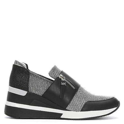 Michael Kors - Zapatillas de Cuero para Mujer Negro Negro, Color Negro, Talla 41 EU: Amazon.es: Zapatos y complementos