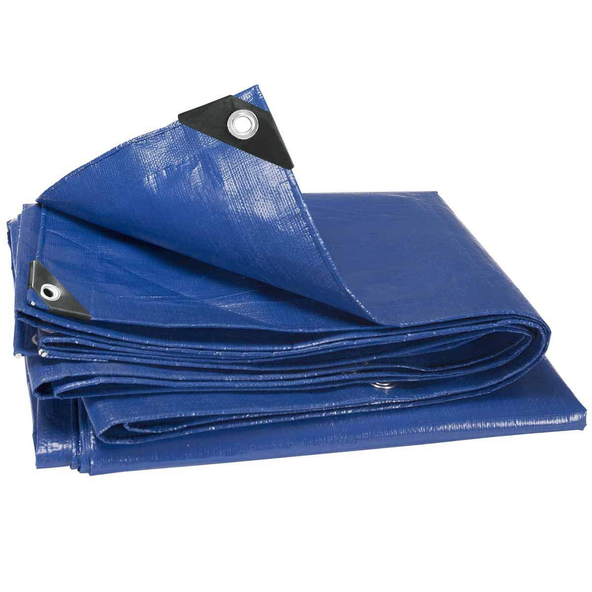 E-Starain B/âche de protection /à /œillets,B/âche imperm/éable /à leau et aux UV,B/âche solide en PE,B/âche de protection ext/érieur /& int/érieur 3x5m,280 g//m/²,Gris