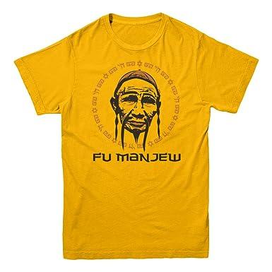 593d1f42ff Shalomshirts Fu Man Jew Funny Jewish T-Shirt Mens Gold Medium:  Amazon.co.uk: Clothing