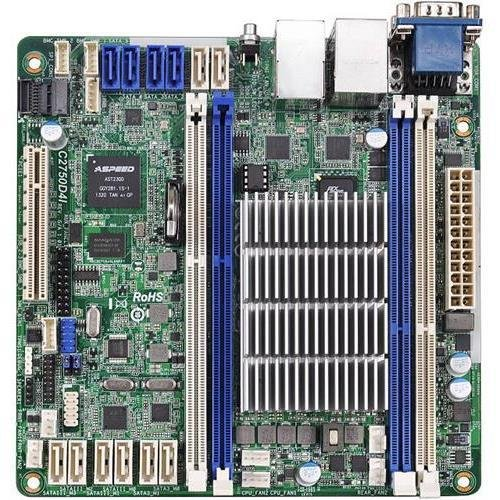 Mini Itx Retail Box - ASRock C2750D4I (COLOR BOX) C2750 FCBGA1283 DDR3 SATA PCI-Express USB mini-ITX Motherboard Retail