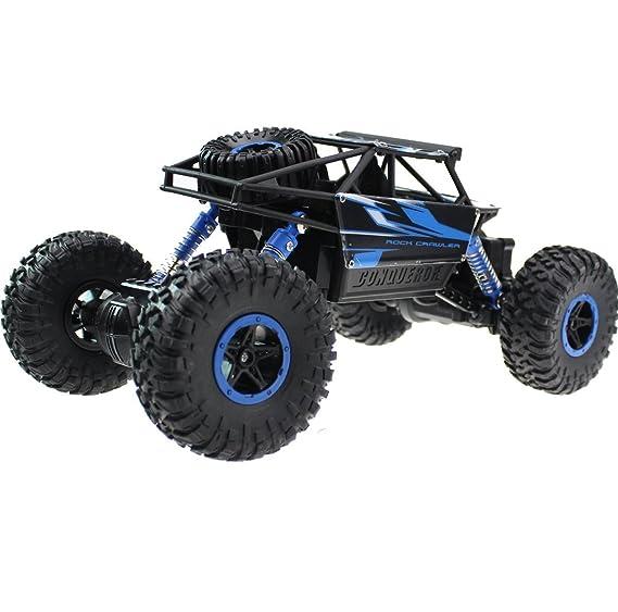 Hugine Off Road RC Car Rock Crawler 1:18 Vehículo 4x4 Mando de Carreras de Control Remoto Todoterreno Dune Buggy Monster Truck de 2.4Ghz Recargable Coche ...