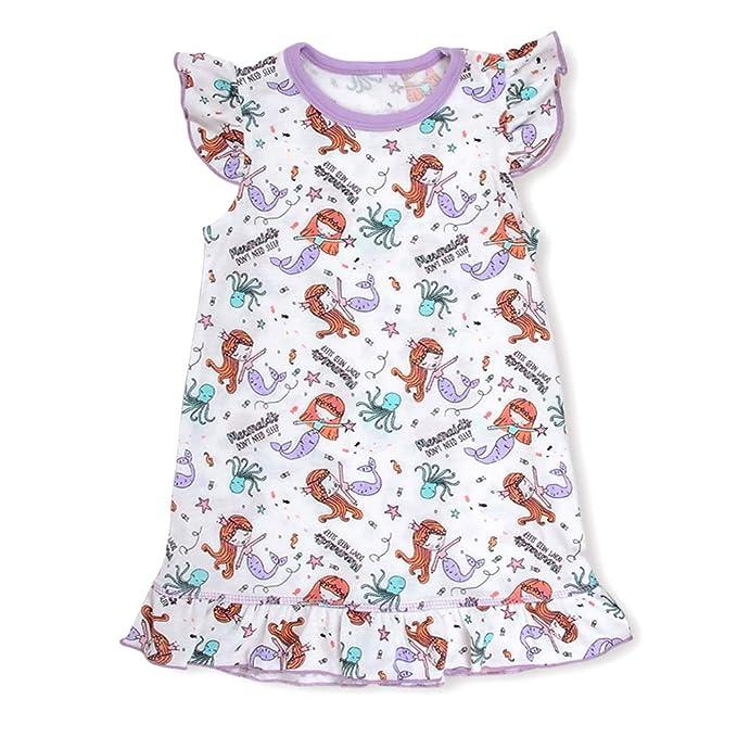 Amazon.com: Camisón para niñas con diseño de unicornio y ...