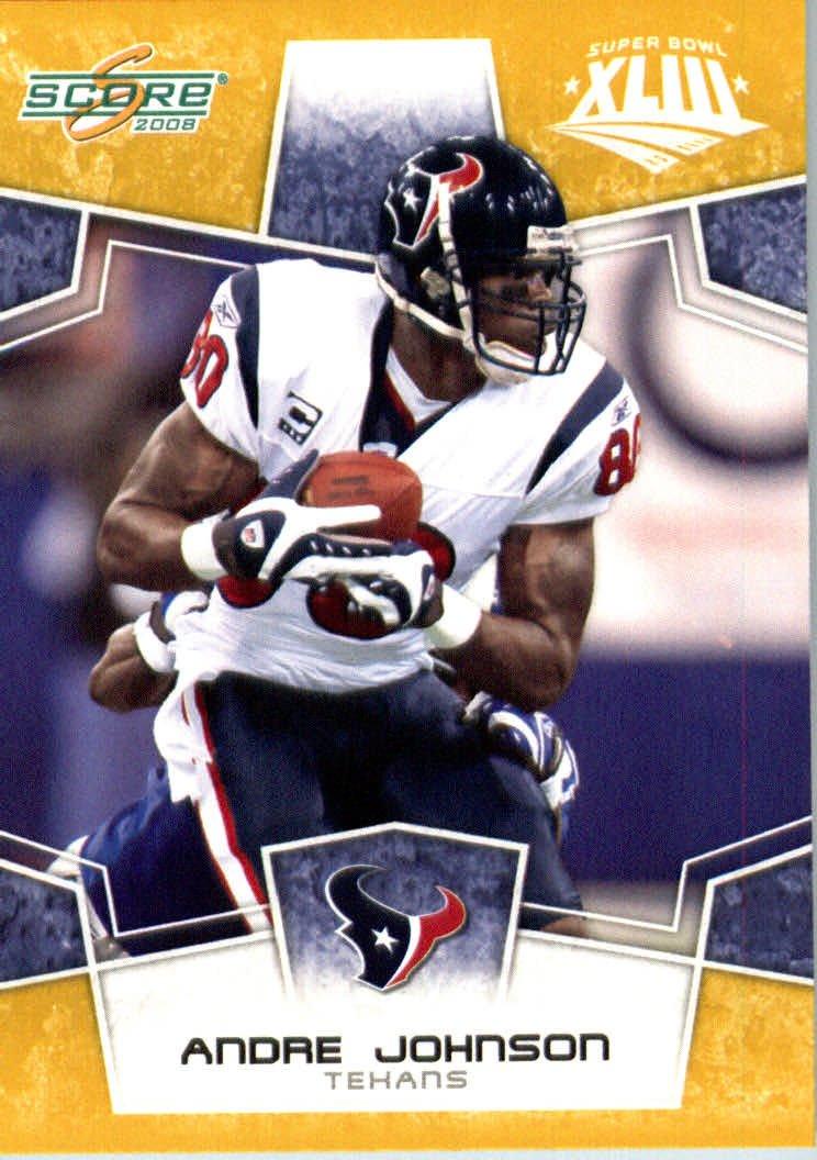 2008スコアSuperbowlゴールドNFLフットボールカード # Made – Texans ( Limited to 800 Made ) # 119 Andre Johnson WR – Houston Texans B00B7TUE0Y, アイオイシ:cc2f0c75 --- harrow-unison.org.uk