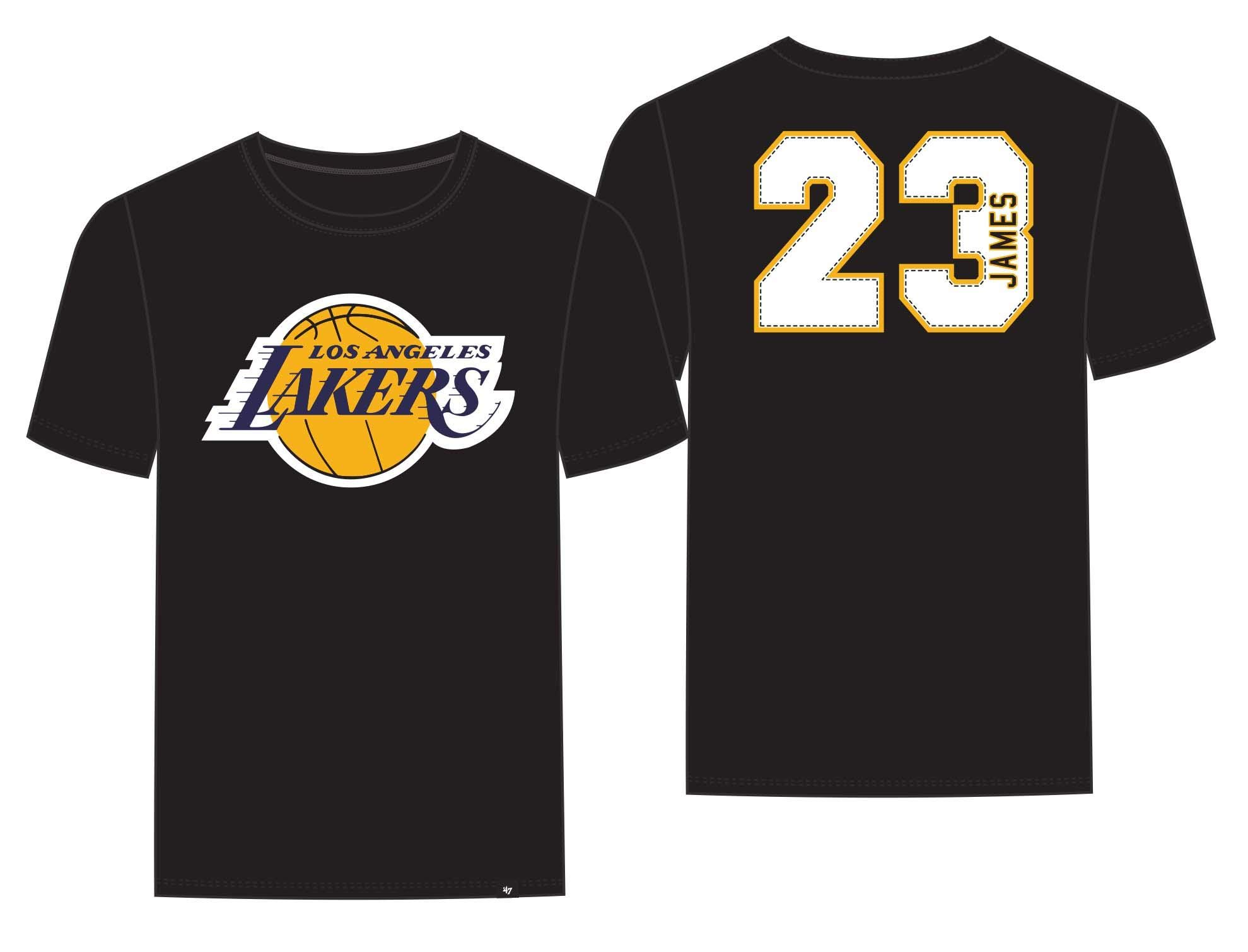 abf36270bd17 Galleon -  47 Los Angeles Lakers Lebron James Brand Black Super Rival  Jersey T-Shirt (X-Large)