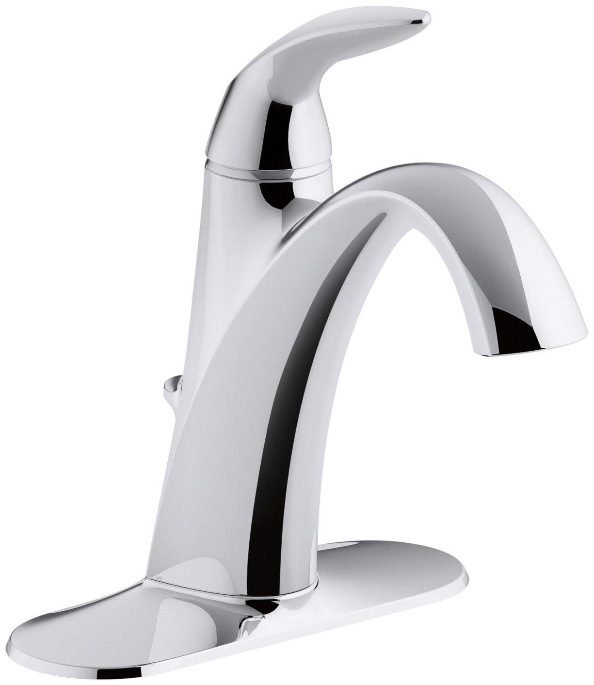 KOHLER K-45800-4-CP Alteo Single-Handle Bathroom Sink Faucet, Polished Chrome by Kohler
