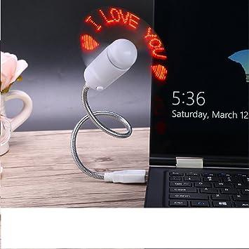 Zhiding - Ventilador de mensajes programable USB LED RGB para ordenador portátil de sobremesa con alimentación USB (LED verde): Amazon.es: Hogar