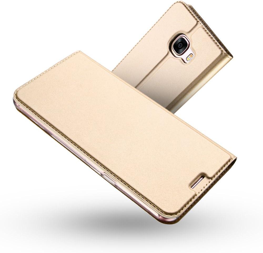 Coque Galaxy A3 2017,Radoo/® Ultra Mince en Cuir PU Premium Housse /à Rabat Portefeuille /Étui de Bumper Folio /à Clapet pour Samsung Galaxy A3 2017 Rose