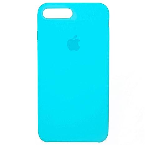 Mdada Funda Silicona para iPhone 7 Plus/iPhone 8 Plus [Carcasa Anti Arañazos, Sin Deja Huellas Dactilares, De Cero De Alta Clidad] (Azul)