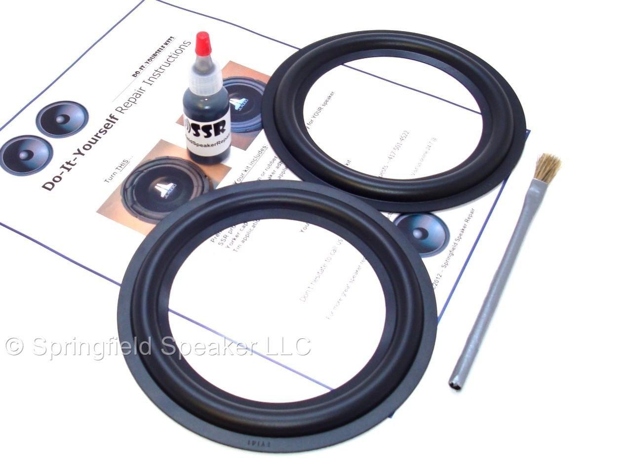 Butyl Rubber 6.5'' Speaker Surround Repair Kit - 2 Piece, 6.5 Inch