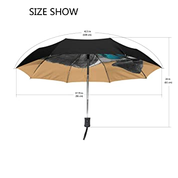 Ieararfre Paraguas Pug Perro con Espejo Gafas de Sol ...