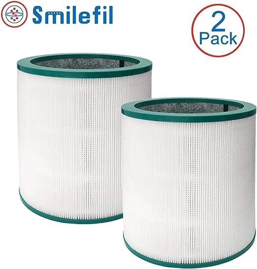 S SMILEFIL Filtro purificador de aire de repuesto compatible con purificador de torre Dyson Pure Cool Link TP02, TP03, en comparación con la pieza # 968126-03, 2 unidades: Amazon.es: Hogar