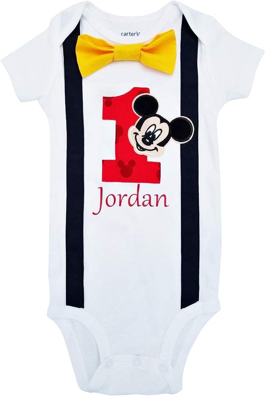 Perfect Pairz bebé niños 1st cumpleaños Disfraz Mickey Mouse Body ...