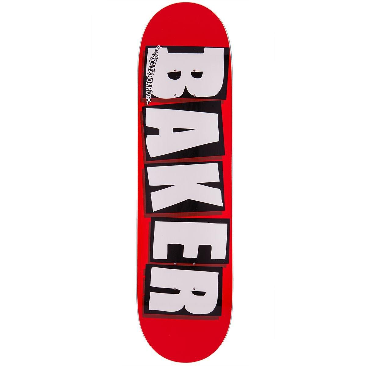 Baker Brand Logo Skateboard Deck - White - 8.0''