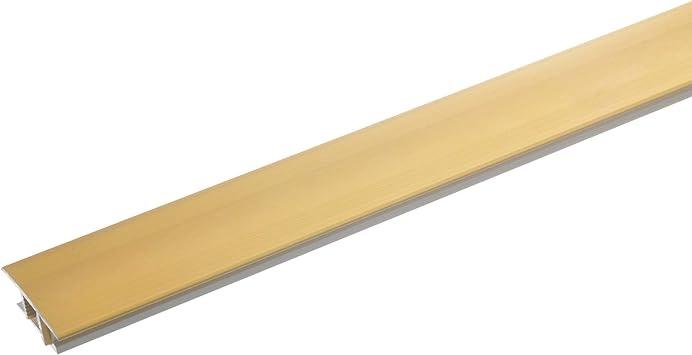 100cm 7-10mm bronce claro list/ón de transici/ón para suelo de moqueta laminado y parquet antideslizante resistente a ara/ñazos acerto 36937 Perfil de transici/ón de aluminio 2 piezas