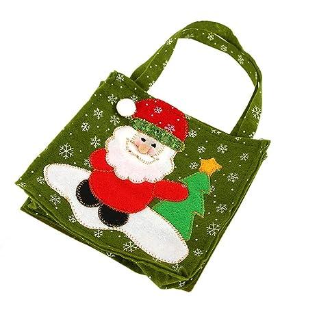 Topdo 1 Pieza Bolsa de Regalo Navidad con Cajas de Tela no Tejida Papá Noel Lindo
