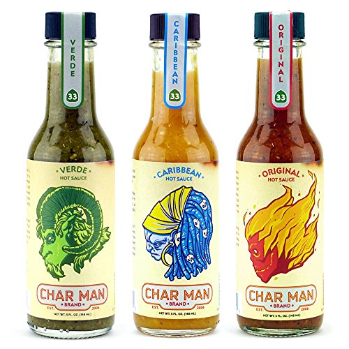Char Man Hot Sauce Combo Pack