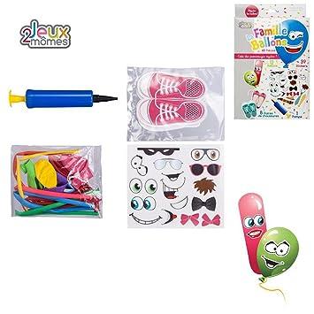 Coffret Ballon de Baudruche à Deguiser 60 pièces Ballon Stickers Pompe CE !