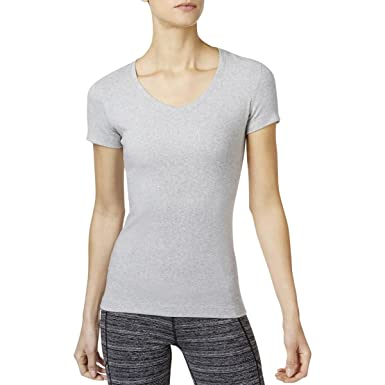 2d1c03177ddc9e Calvin Klein Performance Womens Heathered Fitness Shirts & Tops Gray M
