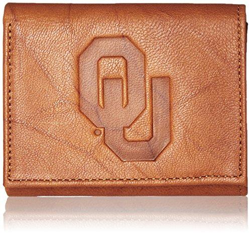 Ncaa Oklahoma Sooners Embossed Genuine Leather Trifold Wallet