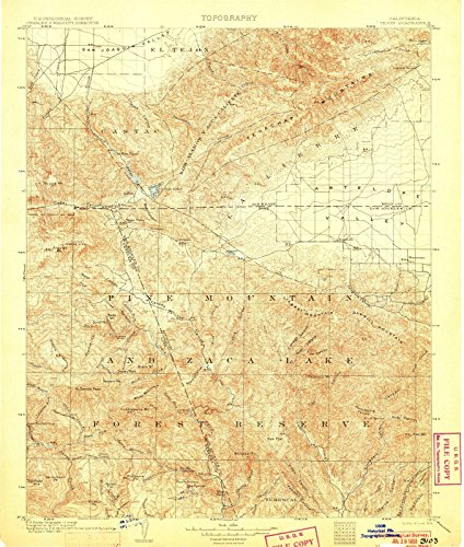 California Maps | 1903 Tejon, CA USGS Historical Topographic Map |Fine Art Cartography Reproduction - Ca Tejon