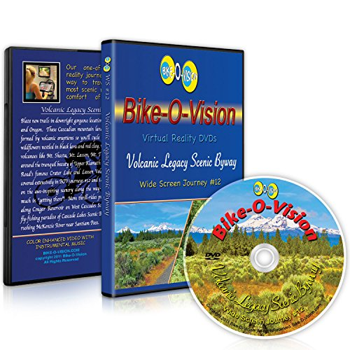 Bike-O-Vision - Virtual Cycling Adventure - Volcanic Legacy Scenic Byway - Perfect for Indoor Cycling and Treadmill Workouts - Cardio Fitness Scenery Video (Widescreen DVD #12)