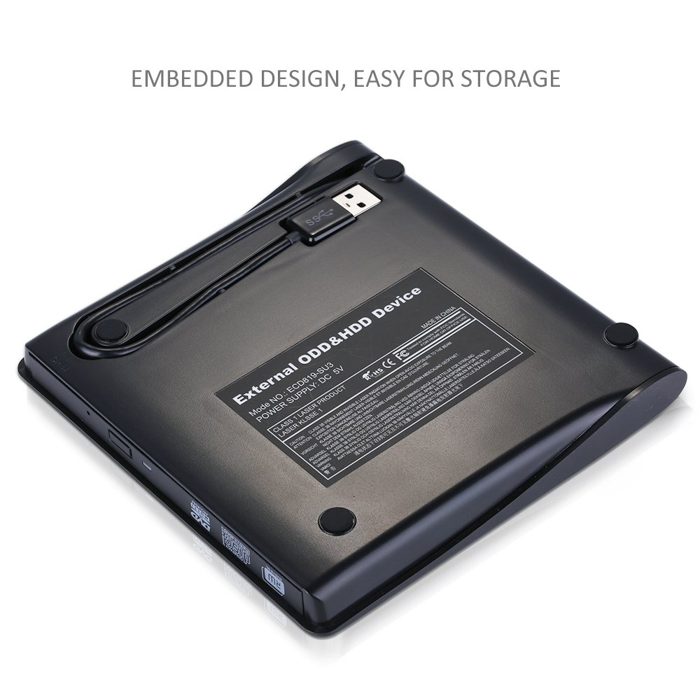 External Dvd Drive Upgraded Versionusb 30pictek Writer Schematic Of Current Power Supply For Double Laser From Dvdrw Burner Cd Optical Usb Rw With Embedded Cable