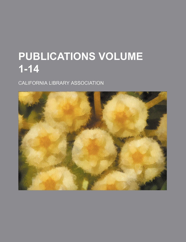 Download Publications Volume 1-14 ebook