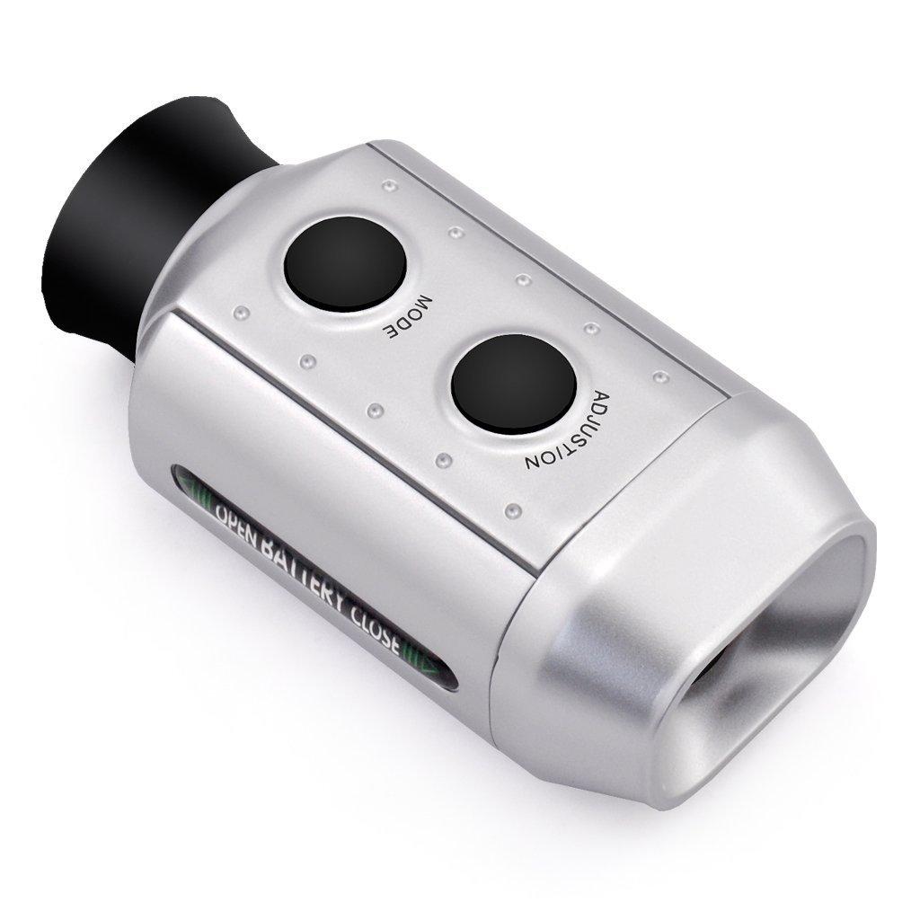 IDS Home POSMA GF200 Golf Rangefinder Digital 7X Zoom Golf Range Finder Magnification Distance Measurer with Carrying Pouch