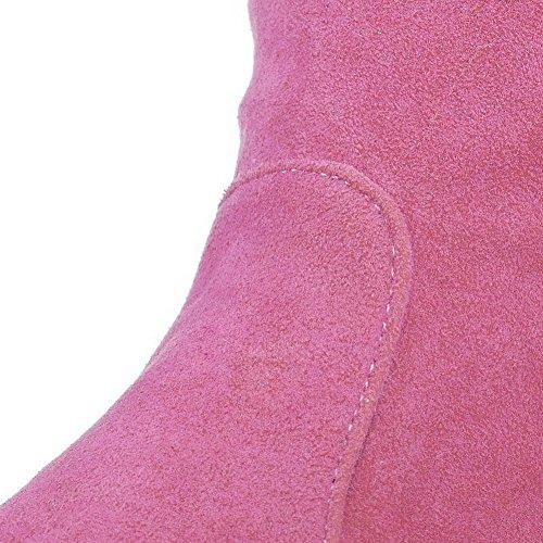 Allhqfashion Tacco Alto Da Donna In Pelle Scamosciata Con Tacco Alto E Tacco Alto Rosa