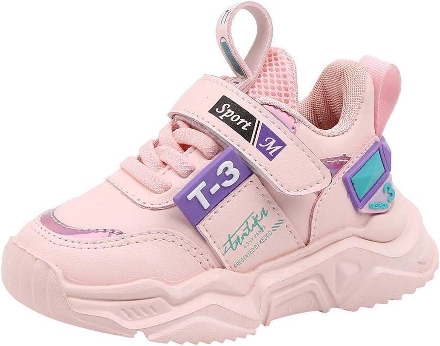 Luckycat Zapatillas Unisex Niños Zapatos niños Deportivo Transpirable y Transpirable con Parte Superior de Cuero cómoda con Zapatillas Velcro niña Sneakers