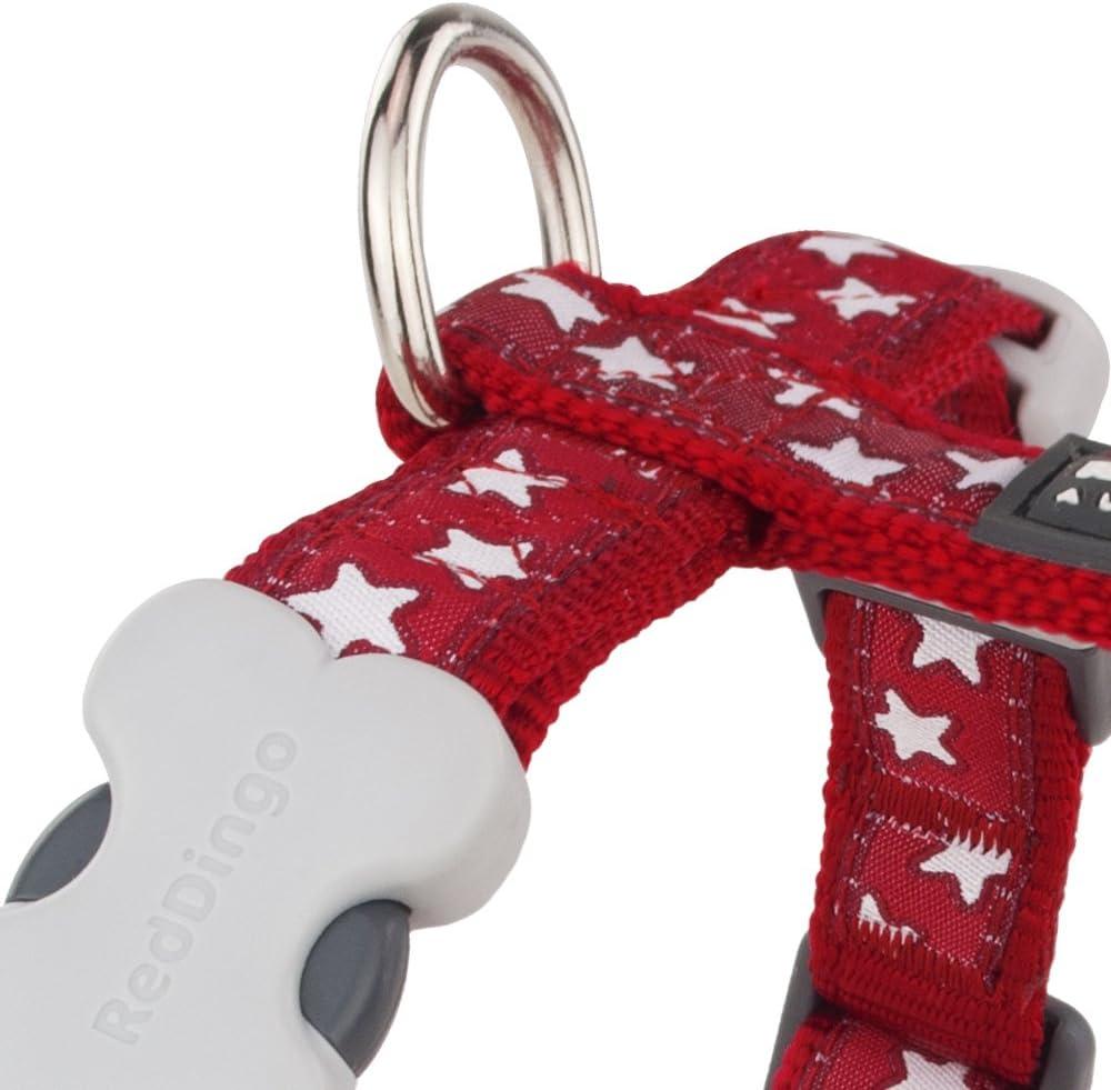 Red Dingo Harnais R/églable pour Chien Rouge Etoiles Blanc S 37 /à 55 cm 15 mm